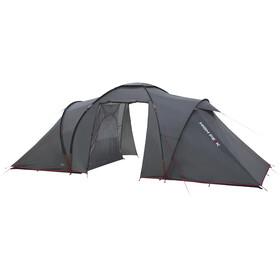 High Peak Como 4 Tente, dark grey/red